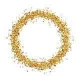 Круглая рамка состоит от золотых звездочек Стоковая Фотография RF
