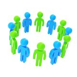 Круглая рамка сделанная группы в составе символические люди Стоковая Фотография RF