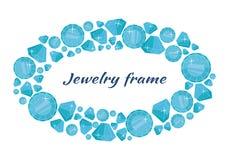 Круглая рамка сделанная диамантов Стоковые Фото