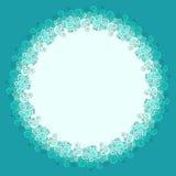 Круглая рамка сделанная из swirly границы волны Стоковые Фотографии RF