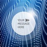 Круглая рамка с местом для текста Решетчатая структура Предпосылка связи технологии сети конструируйте график решетка 3d Стоковое Фото