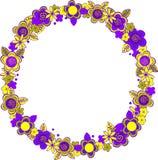 Круглая рамка цветков Стоковое Фото
