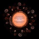 Круглая рамка для текста с элегантным абстрактным флористическим мотивом Стоковая Фотография