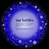 Круглая рамка для текста с элегантным абстрактным флористическим мотивом Стоковые Фотографии RF