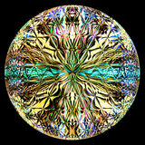 Круглая стеклянная иллюстрация стиля Стоковое Изображение