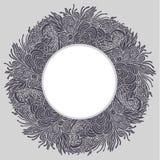 Круглая флористическая рамка 03 Стоковые Изображения RF