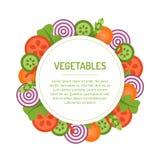 Круглая vegetable рамка Стоковая Фотография RF