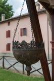 Круг баков плантаторов смертной казни через повешение нанесённый половинный стоковое фото