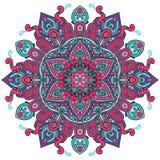 Круг вектора круглый абстрактный Стиль мандалы иллюстрация штока