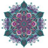 Круг вектора круглый абстрактный Стиль мандалы иллюстрация вектора