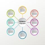 Круг вектора infographic Диаграммы, представления и диаграммы дела Справочная информация Стоковое Изображение