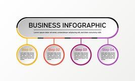 Круг вектора infographic Диаграммы, представления и диаграммы дела Справочная информация Стоковое Фото