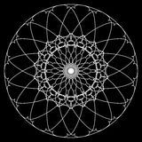 круг геометрический Круговой элемент Абстрактный спиральный мотив с c бесплатная иллюстрация