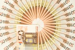 Круг денег евро 50 стоковая фотография rf