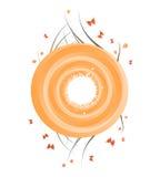 круг знамени флористический Стоковое Фото