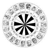 круг календара майяский Стоковые Фото