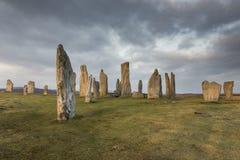 Круг камня Callanish на острове Левиса в наружном Hebrides Шотландии Стоковое Изображение