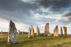 Круг камня Callanish на острове Левиса в наружном Hebrides Шотландии Стоковое Изображение RF