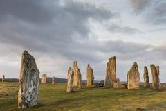 Круг камня Callanish на острове Левиса в наружном Hebrides Шотландии Стоковое фото RF