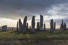 Круг камня Callanish на острове Левиса в наружном Hebrides Шотландии Стоковые Изображения RF