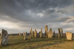 Круг камня Callanish на острове Левиса в наружном Hebrides Шотландии Стоковая Фотография