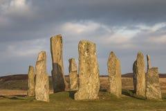 Круг камня Callanish на острове Левиса в наружном Hebrides Шотландии Стоковые Фотографии RF