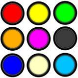 Круг кнопки 3d сеты иллюстрация вектора