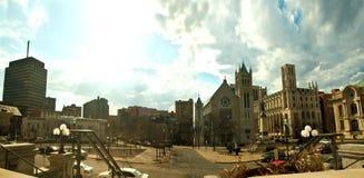 Круг Колумбуса, Сиракуз, Нью-Йорк Стоковая Фотография RF
