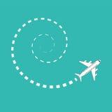 Круг мухы самолета иллюстрация штока
