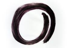Круг нарисованный в одном движении стоковые изображения rf