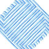 Круг на голубых нашивках Картина акварели предпосылки Абстрактной прокладки покрашенные рукой ретро тип Дизайн для плакатов, sti  Стоковое Изображение