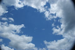 Круг облаков Стоковое фото RF