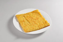 Круглое блюдо с прерванным блюдом flourRound нута с прерванным ch стоковое изображение rf