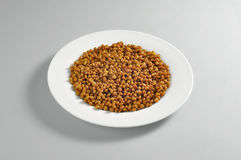 Круглое блюдо с частью кипеть чечевиц Стоковые Изображения RF