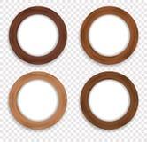 Круглое деревянное собрание рамки фото вектора Стоковые Изображения RF