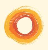 Круглой кольца grunge нарисованные рамкой Стоковое Фото