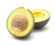 Круглой снятая кожу с темнотой груша авокадоа Стоковое Фото