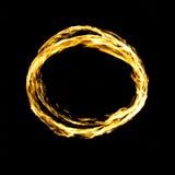 Круг пожара изолированный на черноте Стоковые Фотографии RF