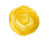 Круг покрашенный желтым цветом Стоковое Фото