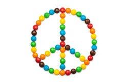 Круг покрашенных конфет Стоковые Фото