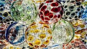 Круг предпосылки хрустального шара Стоковое Фото