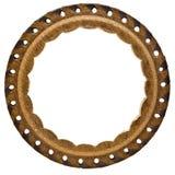 круг рамки кожаный Стоковые Фотографии RF
