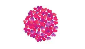Круг сердец абстрактная иллюстрация Стоковое Изображение RF