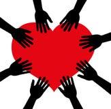 Круг сердца рук, руки Стоковые Фотографии RF