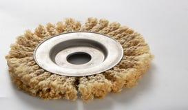 Круг сизаля для угловой машины, используемый для полировать древесину и металлы стоковое изображение