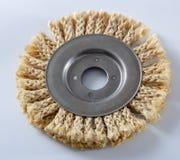 Круг сизаля для угловой машины, используемый для полировать древесину и металлы стоковые фото