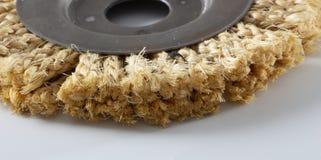 Круг сизаля для угловой машины, используемый для полировать древесину и металлы стоковые изображения rf