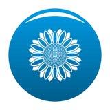 Круг сини вектора значка солнцецвета Стоковое Изображение RF