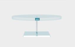 Круг стеклянного стола Стоковые Изображения