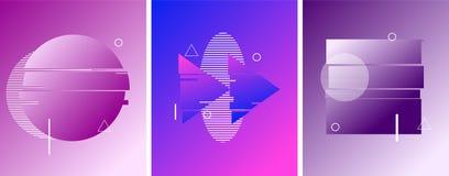 Круг, стоп, кнопка возвращения в стиле duotone футуристическом Жидкостные элементы o бесплатная иллюстрация